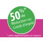 50% de déduction ou réduction d'impôt